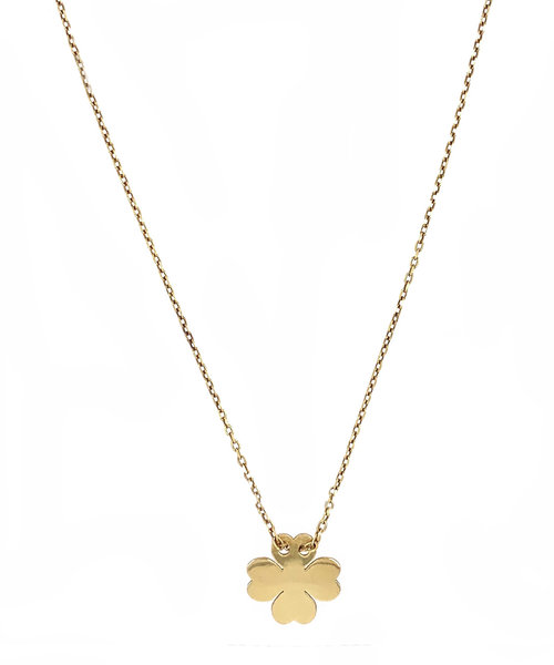 Lucky Clover Sterling Silver 925  Gold-Plated