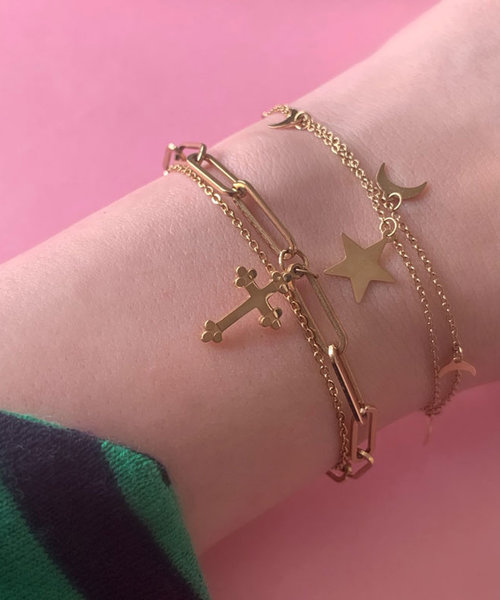 Christian Charm Stainless Steel Goldplated