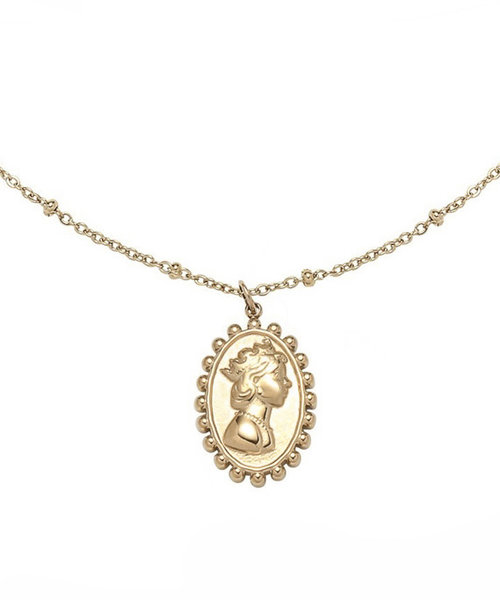 Queen Stainless Steel Gold-Plated