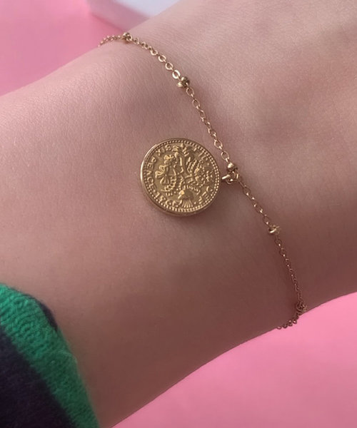 Double Coin Bracelet Stainless Steel