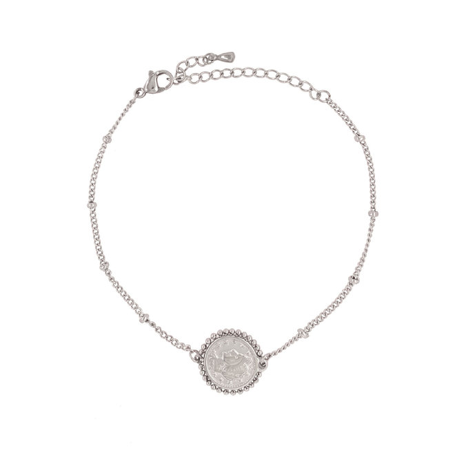 Rome Double Coin Bracelet Stainless Steel