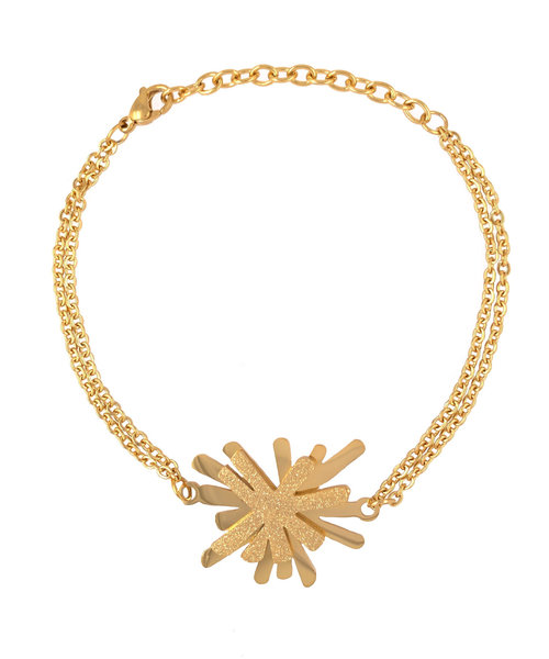 Creativity Bracelet Stainless Steel Gold Plated