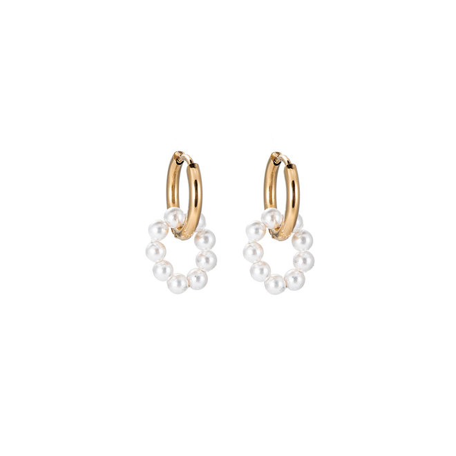 Priceless Treasure Earrings Stainless Steel Gold-Plated