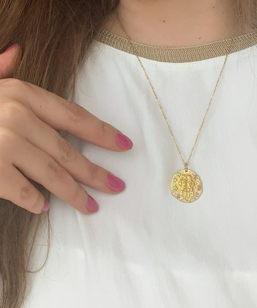 Zodiac Necklace Gold Plated