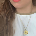 Zodiac Necklace Stainless Steel Gold -Plated