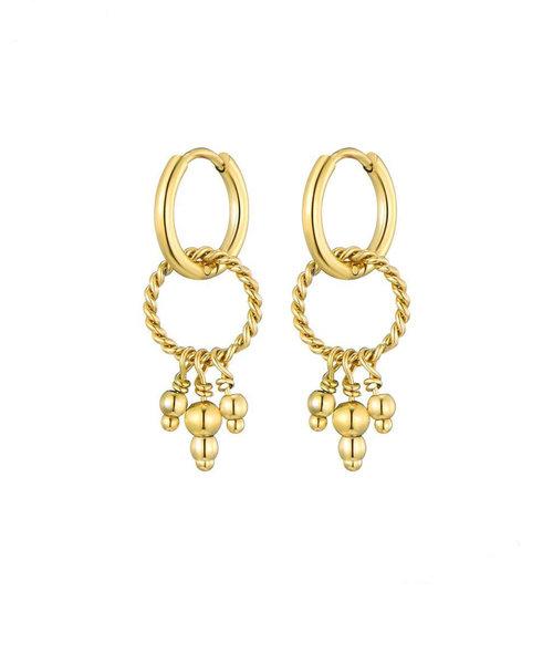 Nala Earrings Stainless Steel Gold-plated