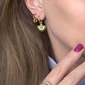 Natural Jewels Earrings Stainless Steel Goldplated