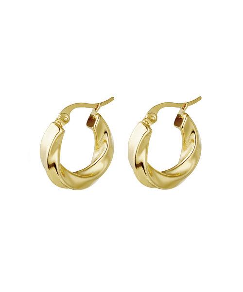 Hoop Earrings  Stainless Steel Gold- Plated
