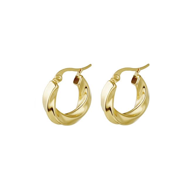 Hoop Earrings  Stainless Steel Gold- Plated