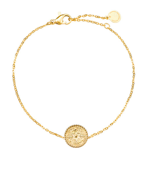 Roma Bracelet Stainless Steel Gold- Plated