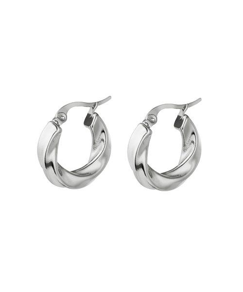 Hoop Earrings Stainless Steel Silver