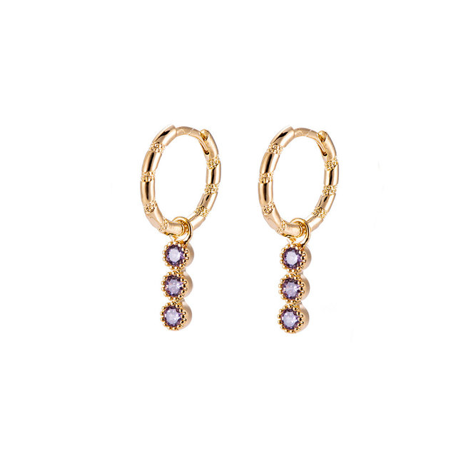Ava Earrings 14k Gold- Plated Brass
