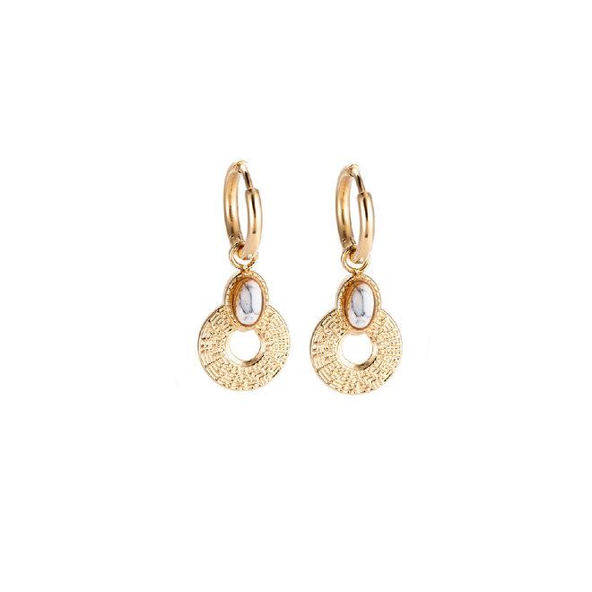 Daisy White Earrings