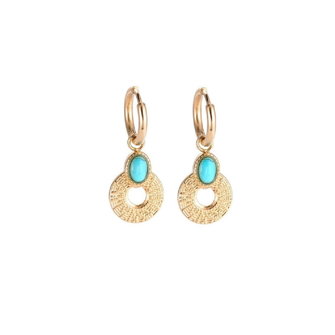 Azure Earrings Stainless Steel Gold-Plated