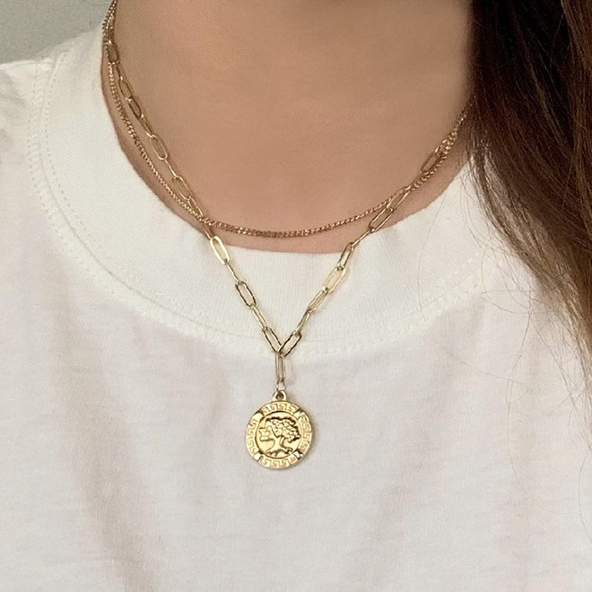 Tree of Happiness Necklace Stainless Steel Gold- Plated