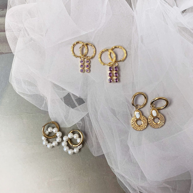 Sophie Earrings  14k Gold- Plated Brass