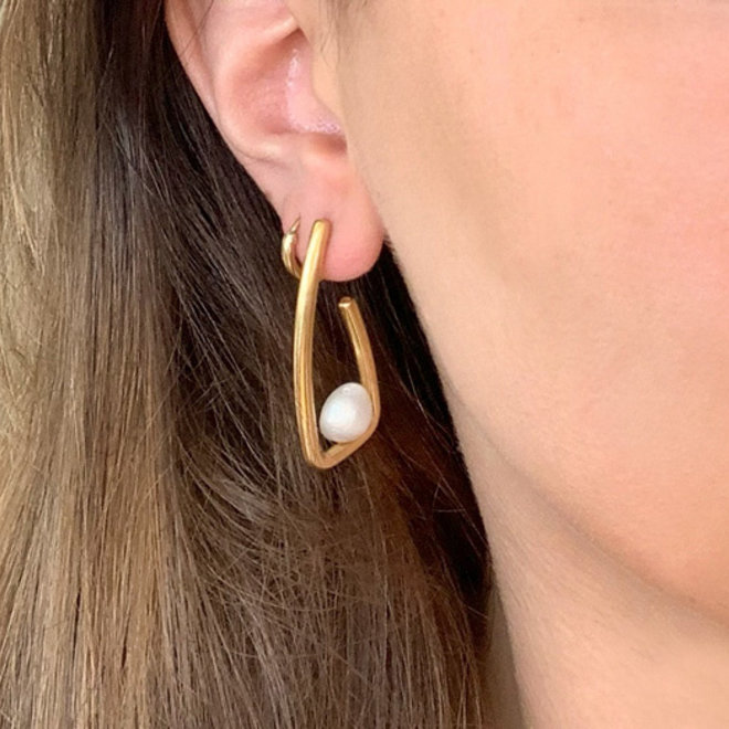 Clarabella Earrings Stainless Steel Gold-Plated