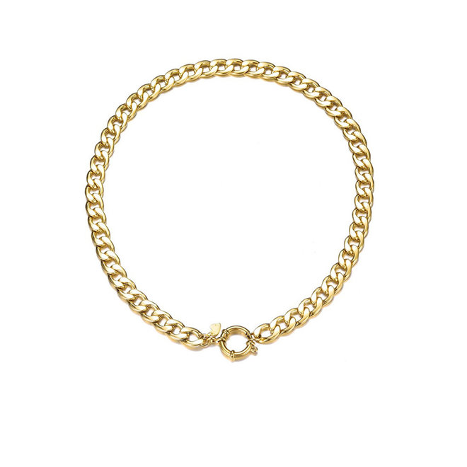 Esmeralda Necklace Stainless Steel Gold-Plated