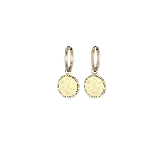 Fortuna Earrings Stainless Steel Gold-Plated