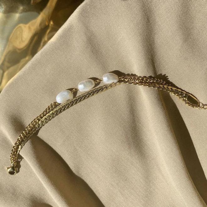 Estella Armband Roestvrij Staal Goud Verguld