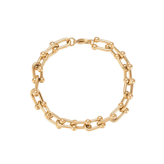 Statement Bracelet Stainless Steel Gold- Plated