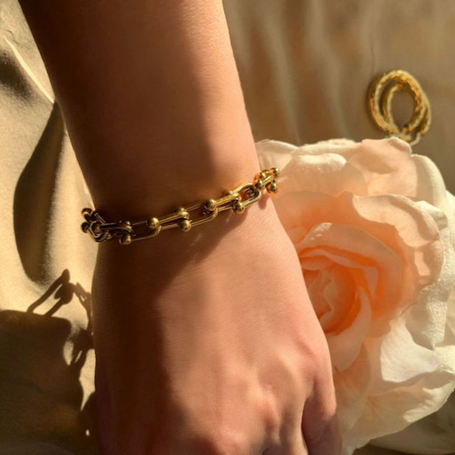 Statement Armband Roestvrij Staal Goud Verguld