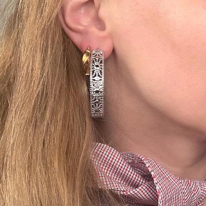Silver Light Earrings Stainless Steel