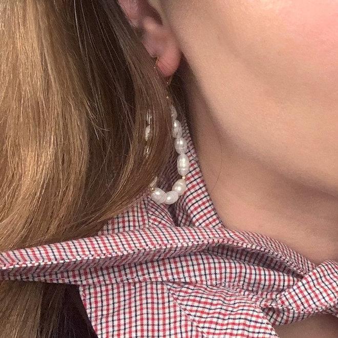 Natural Pearl Earrings Sterling Silver 925