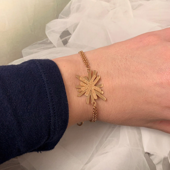 Creativity Armband Roestvrij Staal Goud Verguld