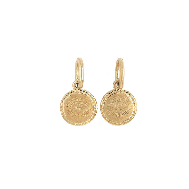 Eye Protection Earrings Stainless Steel Gold-Plated