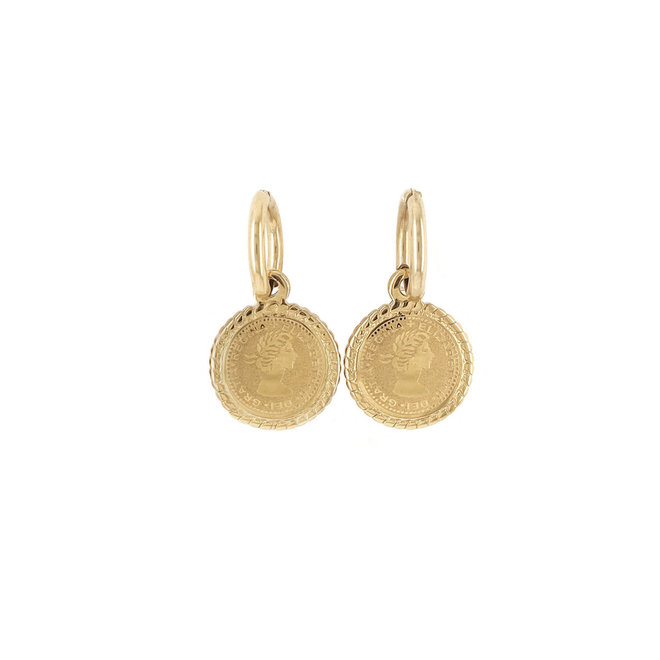 Regina Earrings Stainless Steel Gold-Plated