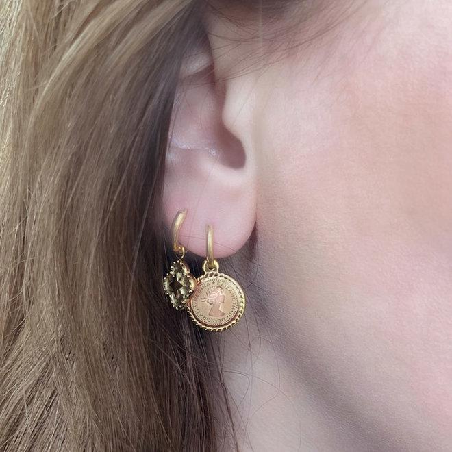Regina Earrings Stainless Steel Gold-Plated