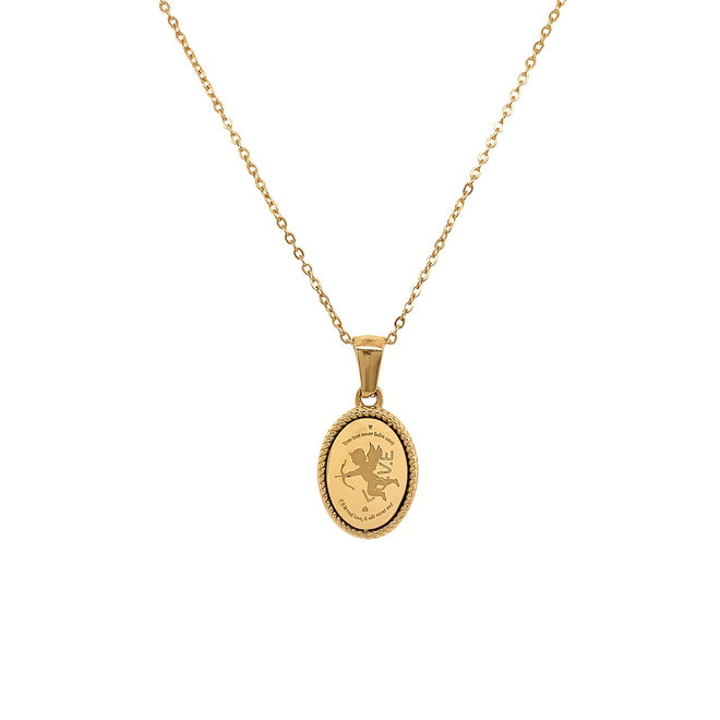 Amor Angel Stainless Steel Gold-Plated