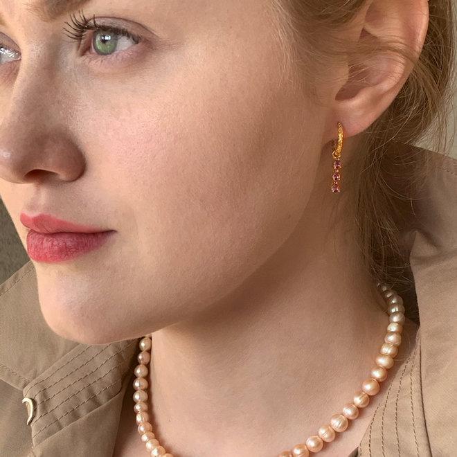 Sophie Oorbellen 14K Vergulde Brass