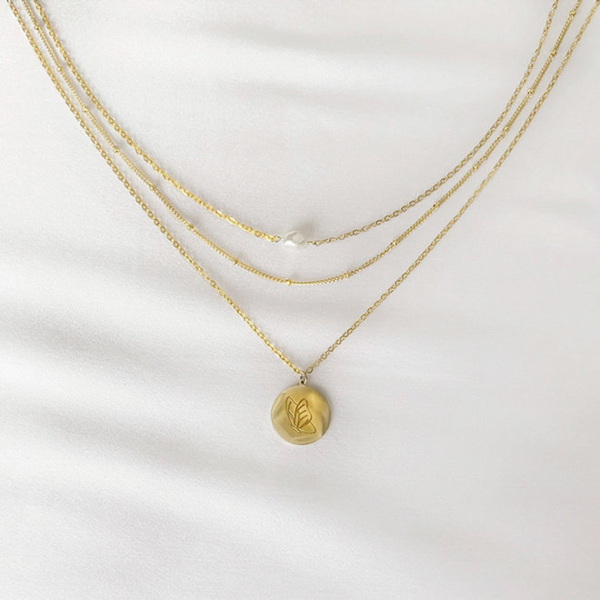 Euphoria Necklace Gold-plated Stainless Steel