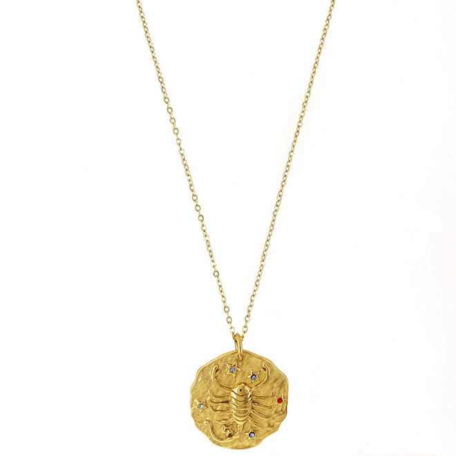 Zodiac Necklace Stainless Steel  Gold-Plated