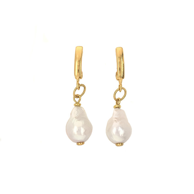 Ophelia Earrings Freshwater Pearls Gold-Plated Silver