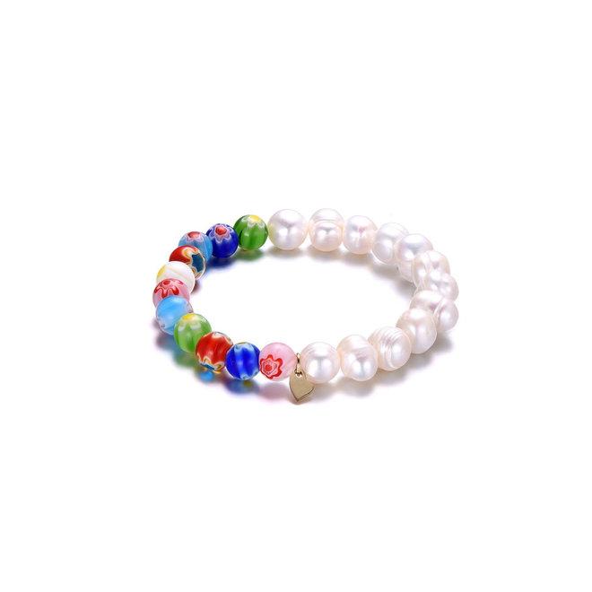 Hope Bracelet Freshwater Pearl & Murano