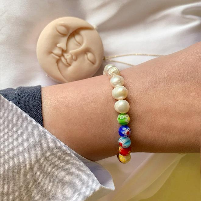 Hope Armband Zoetwaterparel & Murano