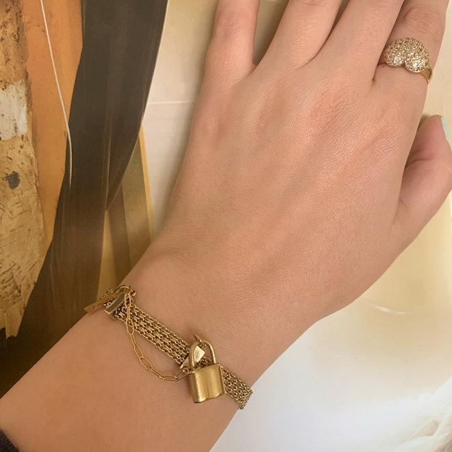 Lock Gold Armband