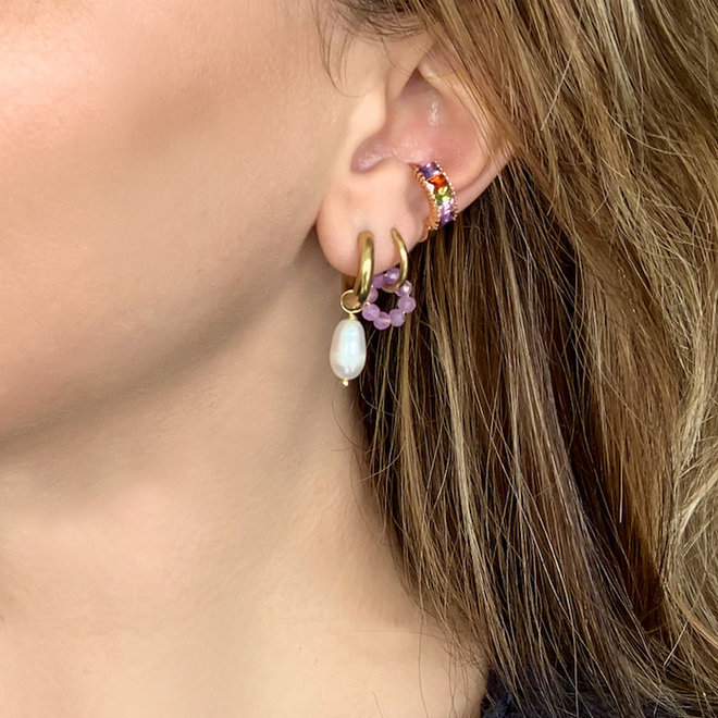 Pearl Earrings Stainless Steel Gold-plated
