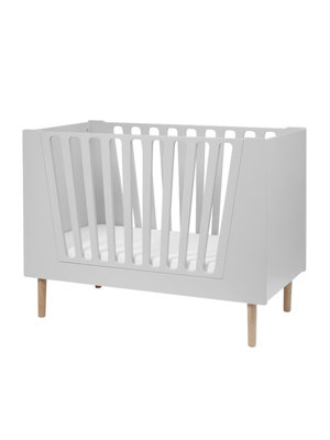 Done by Deer Baby cot, 60 x 120 cm, grey
