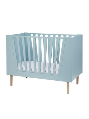 Done by Deer Baby cot, 60 x 120 cm, blue