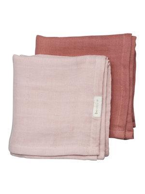 Fabelab Muslin Cloth - 2 pack - Berry