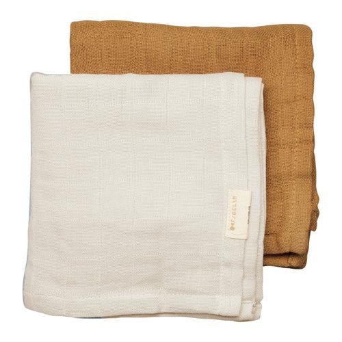 Fabelab Muslin Cloth - 2 pack - Fawn