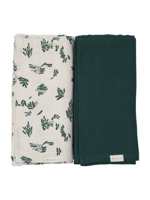 Fabelab Swaddle - Printed and solid pack - Forest Floor