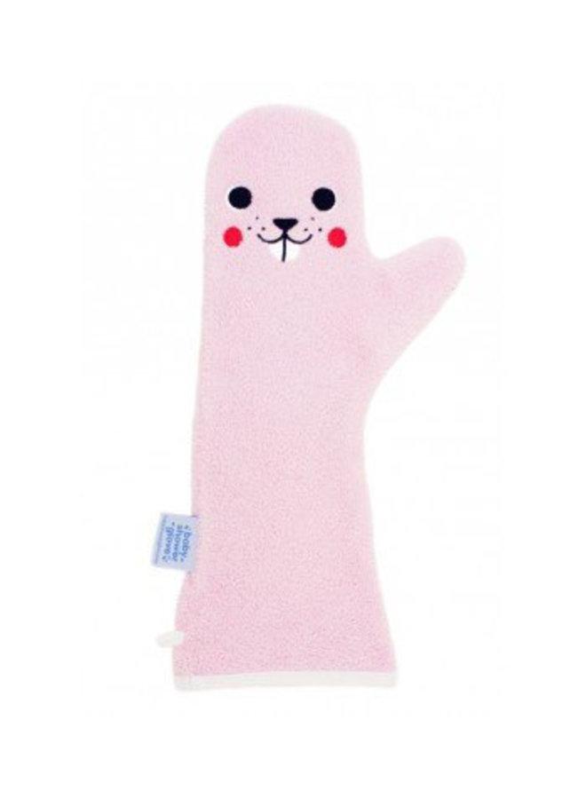 Invented4kids - Baby shower glove - Roze - Bever