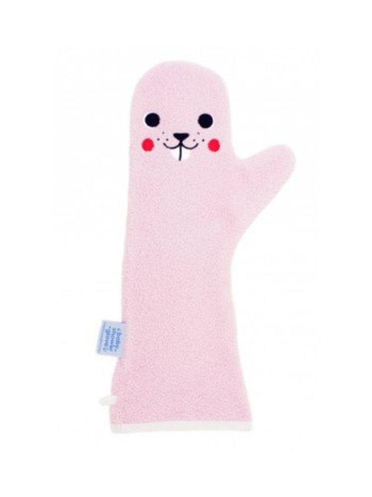 Invented4kids Baby shower glove - Roze - Bever