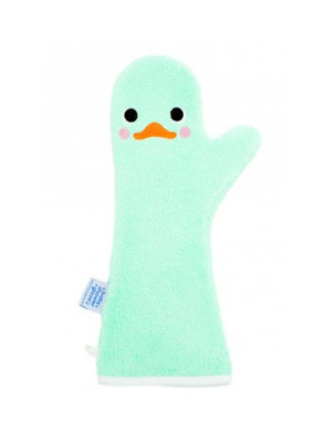 Invented4kids Baby shower glove - Mint - Zwaan