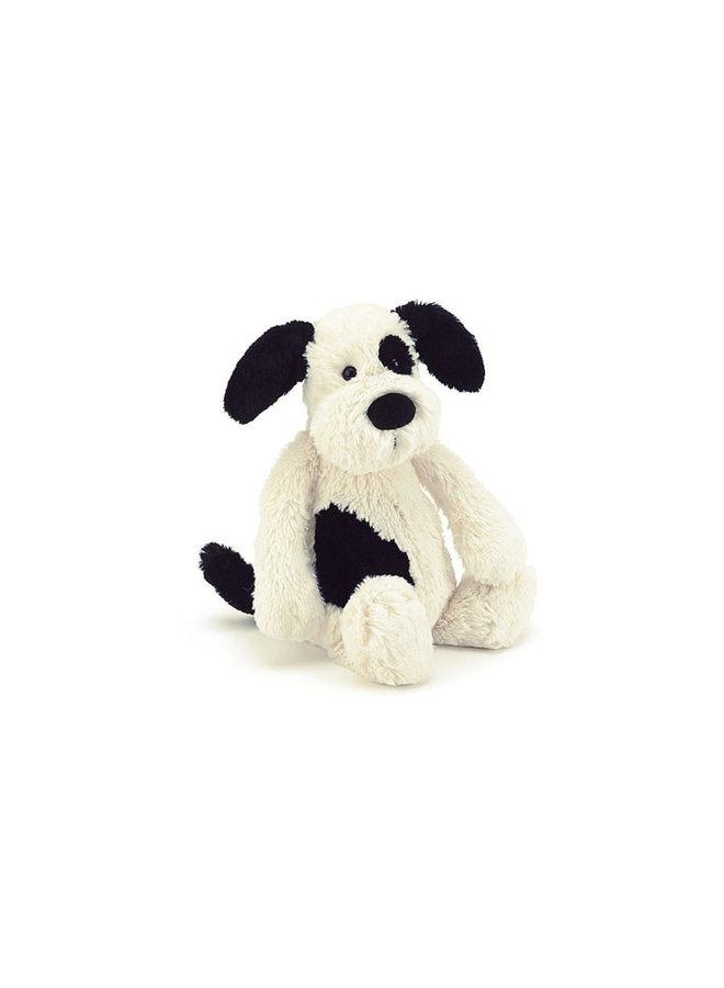 Jellycat - Bashfull Black&Cream Puppy Small